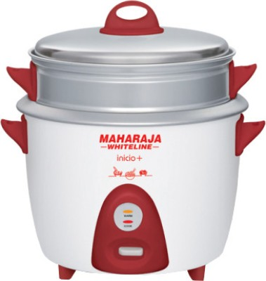 Maharaja Whiteline RC 101 Electric Rice Cooker with Steaming Feature(1.8 L)