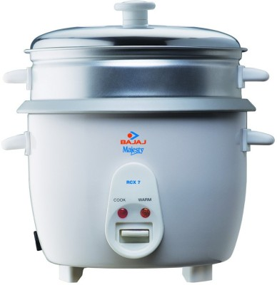 Bajaj RCX 7 Electric Rice Cooker with Steaming Feature