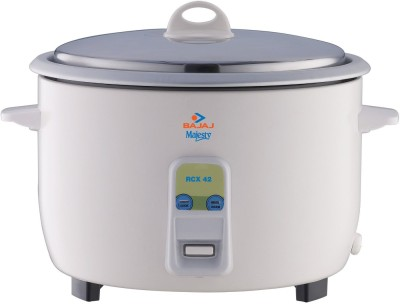 Bajaj Majesty RCX-42 4.2 L Multifunction Electric Rice Cooker(4.2 L, White)