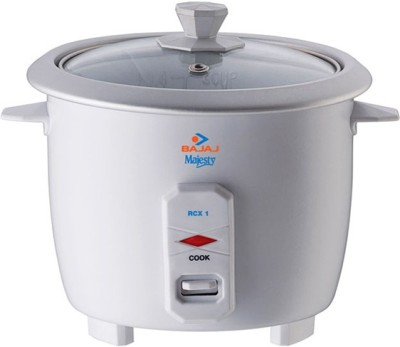 Bajaj Majesty RCX 1 Electric Rice Cooker(1 L, White)