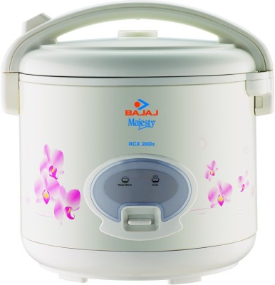 Bajaj Majesty RCX28 Deluxe Multifunction Electric Rice Cooker(2.8 L, White)