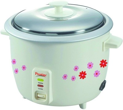 Prestige PRAO Electric Rice Cooker with Steaming Feature(1.8 L, White)