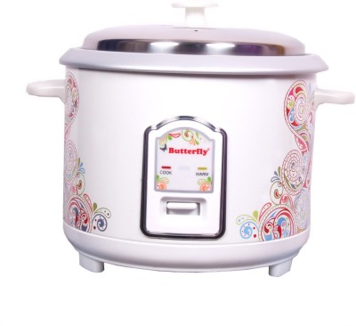 Butterfly Raga Electric Rice Cooker with Steaming Feature
