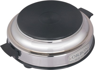 Orbon 1000 Watt Hot Plate Round Silver Electric Cooking Heater(1 Burner)