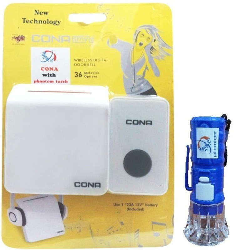 cona wireless remote bell & phantom torch Wireless Door Chime