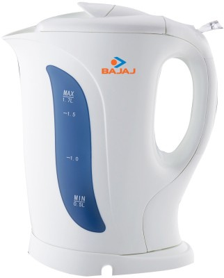 Bajaj Cordless Electric Kettle(1.7 L, White, Blue)