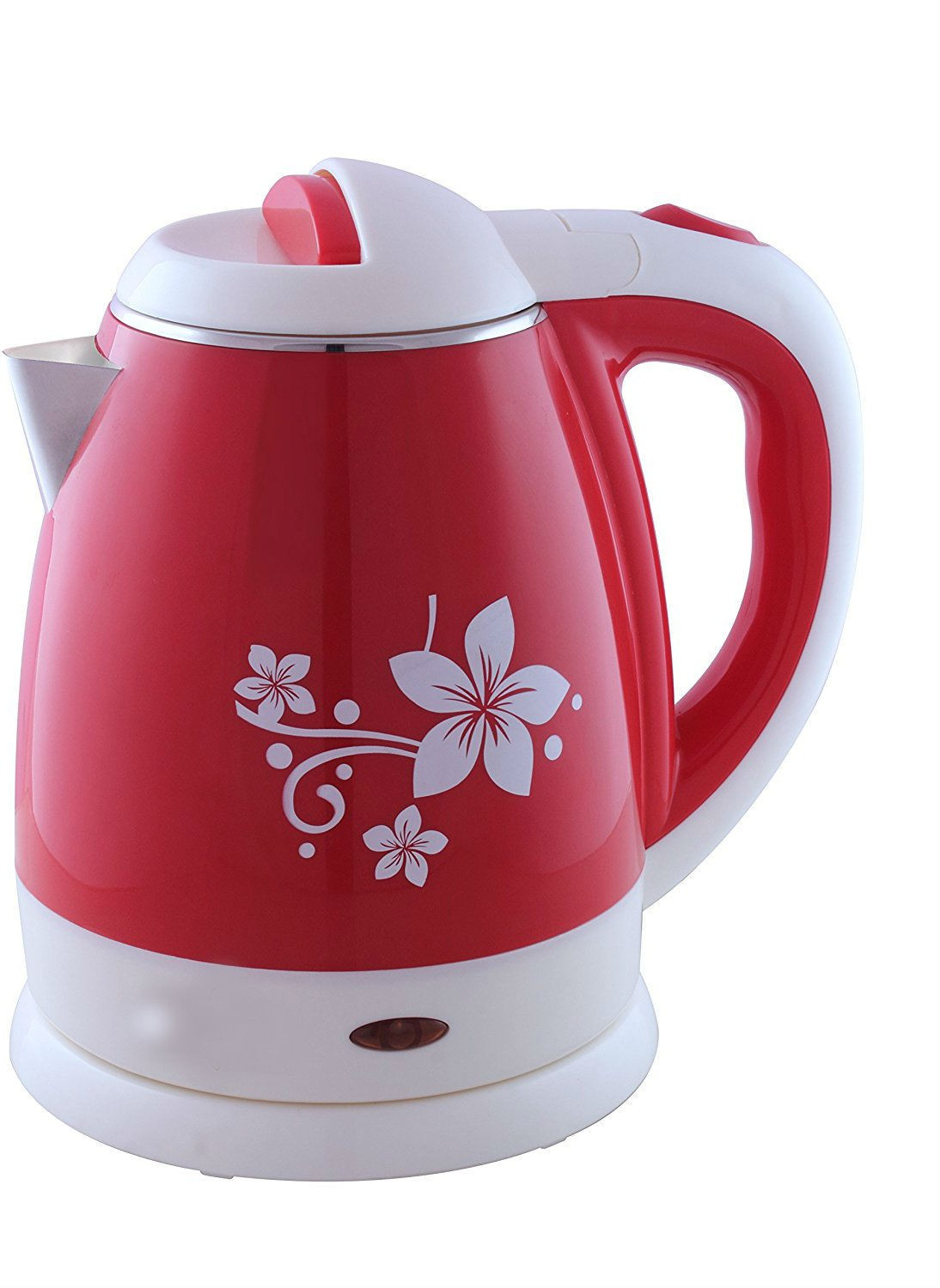Shrih SH - 02642 Portable Cool Touch Electric Kettle(1.2 L, White Red)