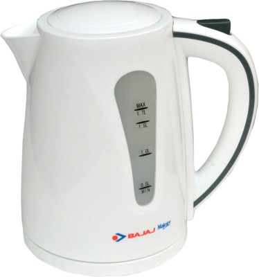 Bajaj New KTX 7 1.7L Cordless Electric Kettle(1.7 L, White)