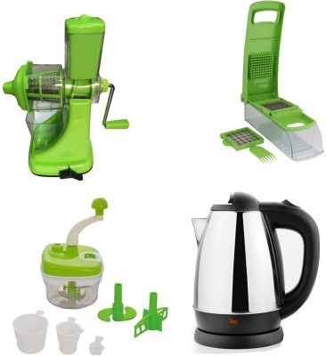 Black Cat Sagar Juicer+Apex Chopper With food processor with Queen-1500 Electric Kettle