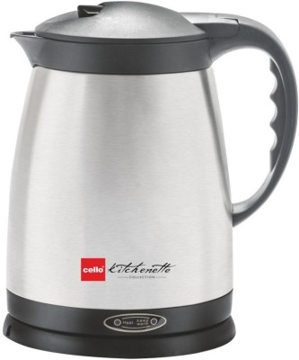 Cello Quick Boil 400 Electric Kettle(1.5 L, Silver)