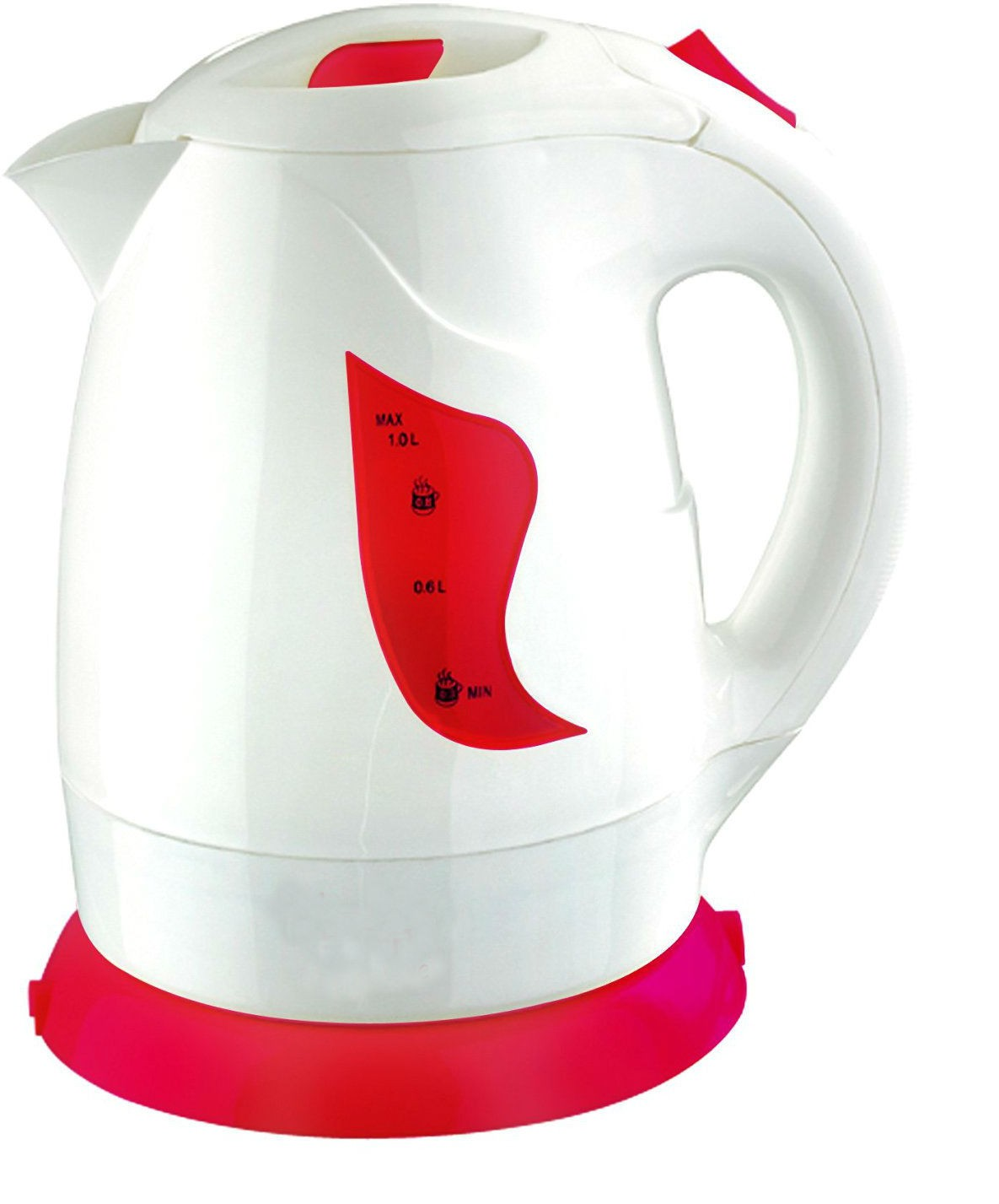 Shrih SH - 02649 Red Concealed Element 1 Litre Electric Kettle(1 L, Red And White)