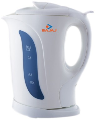 Bajaj Cordless Electric Kettle(1 L, White)