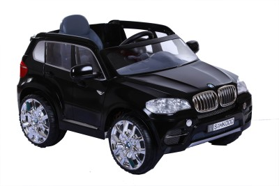 Toy House R/O R/C BMW X5 Rechargeable Battery Operated Ride on Car(Black)