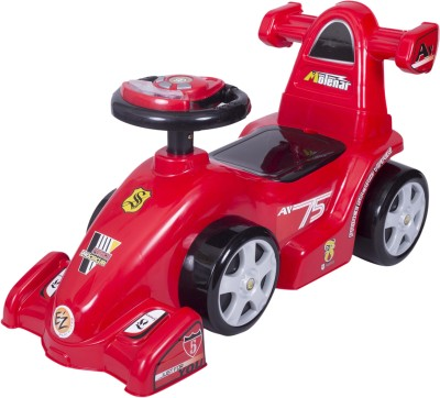 Ez, Playmates Baby Ride On Formula Red Car