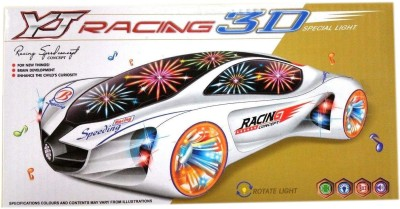 Lotus Racing 3D Special Light Battery Operated Bump And Go Car