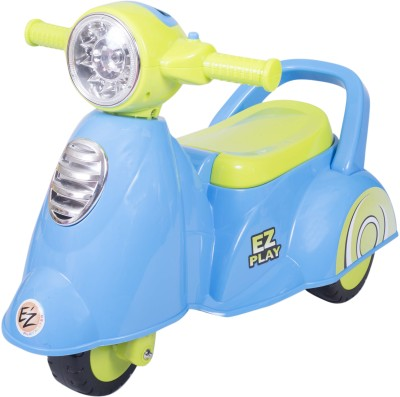 Ez, Playmates Baby Ride On Italian Scooter Blue Bike