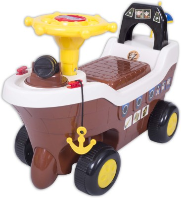 Ez, Playmates Pirate Ship Fun Ride On Brown Car(Brown)