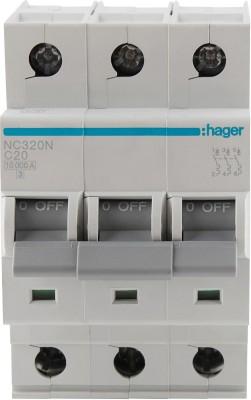 Hager TP 20A 10KA C-CURVE NC320N MCB