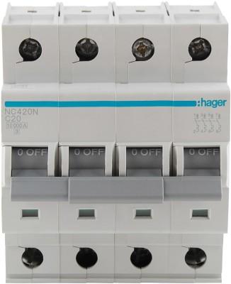 Hager FP 20A 10KA C-CURVE NC420N MCB