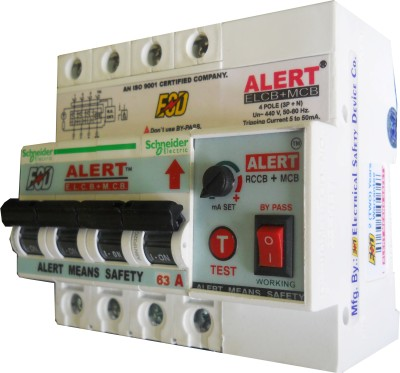 Alert ELCB+MCB_63A-HV AE+MC63A-HV4(POLE) MCB