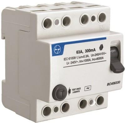 L&T Tripper RCCB / ELCB, FP, 25A, Sensitivity : 30 mA , BC402503 MCB