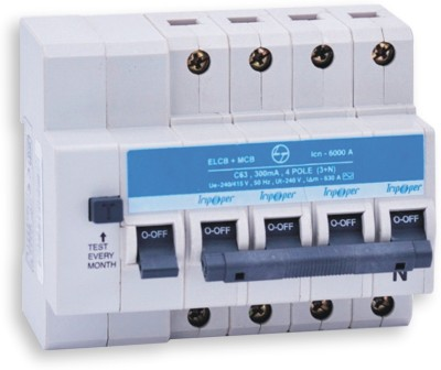 L&T Tripper EL+MCB / RCBO, FP, 16A, Sensitivity : 30 mA, CB90002OOBO MCB(4)