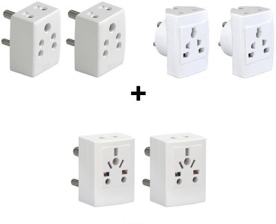 Vinay 160092,160094,160095 C6 Combo Offer -6a , 4 In 1 And 5 In 1 (Unbreakable) Three Pin Plug