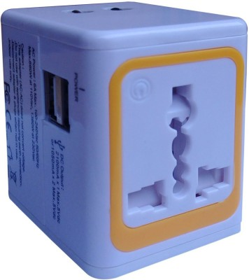 Nimble House Travel Adapter Two Pin Plug(White)