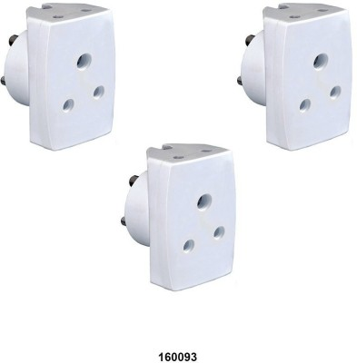 Vinay 160093 C3 Combo Pack Of 3 Pcs -16a (Unbreakable) Three Pin Plug