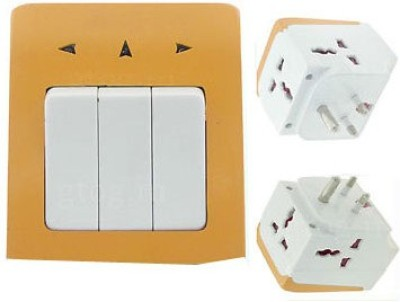 "DIY Craftsâ""¢ 3-Pin.Multi Socket+Switch 5 Three Pin Socket"