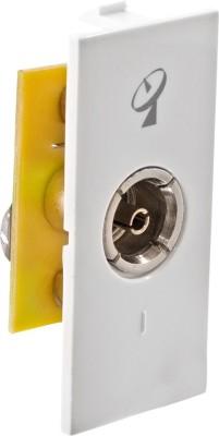 Girish Modular Glisten TV Socket 6 One Way Electrical Switch