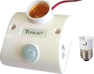 Totelec Lamp Holder 5 Motion Sensor Electrical Switch