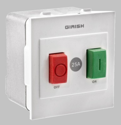 Girish 25 One Way Electrical Switch(Pack of 10 Number of Switches - 1)