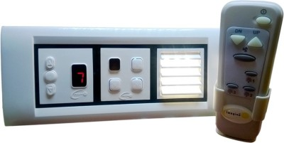Imagine Tech Remote control switch for 3 Light 1 Fan 5 One Way Electrical Switch
