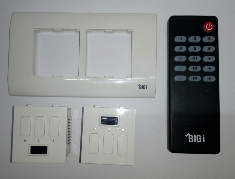 Big-i 4 Module 5 One Way Electrical Switch(Pack of 3 Number of Switches - 6)