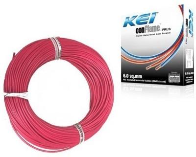 KEI FR PVC, PVC 2.5 sq/mm Red 180 m Wire(Red)