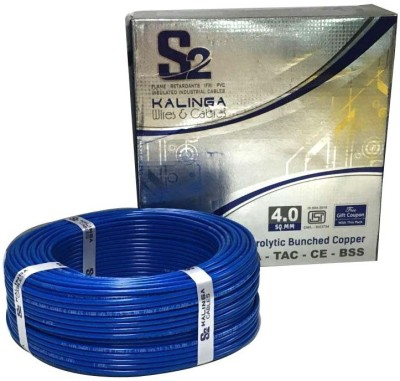 S2 KALINGA Flame Retardant (FR) PVC 4 sq/mm Blue 90 m Wire