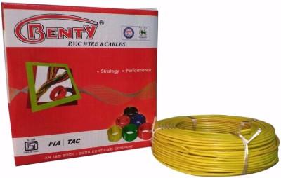 Benty PVC 1 sq/mm Yellow 91.44 m Wire