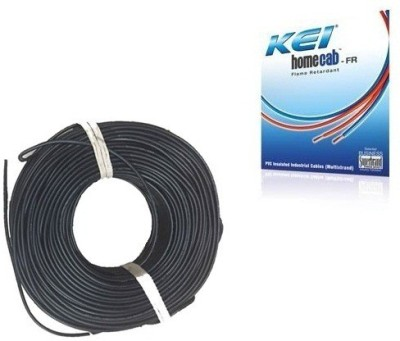 KEI FR PVC, PVC 1.5 sq/mm Black 180 m Wire