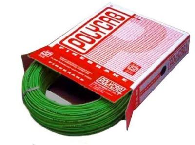 Polycab FR PVC, PVC 4 sq/mm Green 90 m Wire