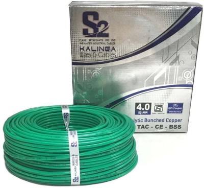 S2 KALINGA Flame Retardant (FR) PVC 4 sq/mm Green 90 m Wire