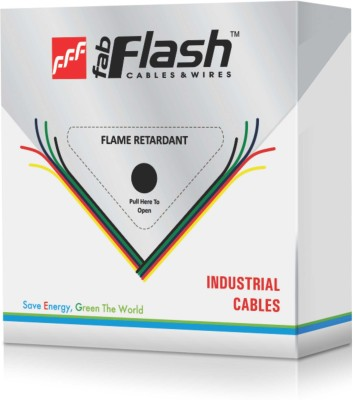FAB-FLASH Fire Retrardant PVC 1.5 sq/mm Yellow 91 m Wire