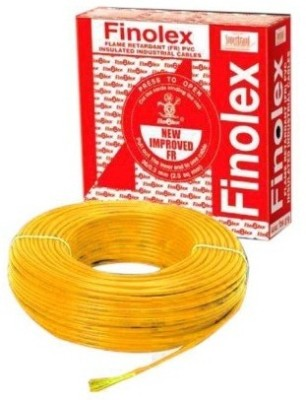 Finolex FR PVC 6 sq/mm Yellow 180 m Wire