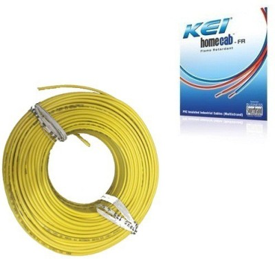 KEI FR PVC, PVC 2.5 sq/mm Yellow 180 m Wire