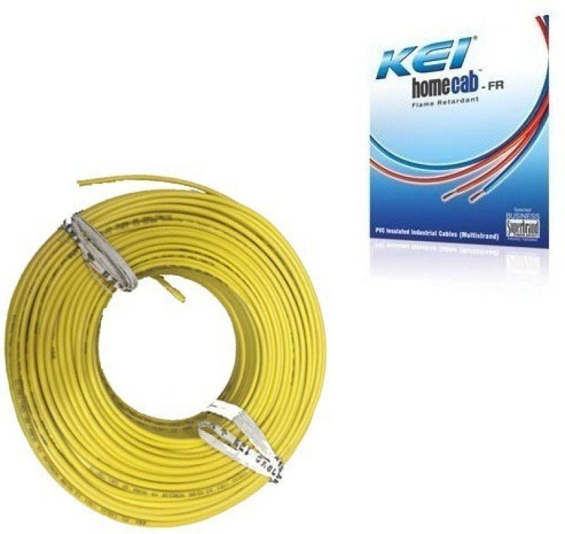 KEI FR PVC, PVC 2.5 sq/mm Yellow 180 m Wire(Yellow)
