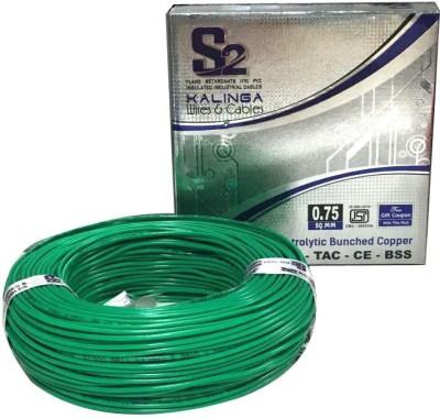 S2 KALINGA Flame Retardant (FR) PVC 0.75 sq/mm Green 90 m Wire