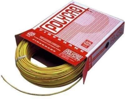 Polycab FR PVC, PVC 1.5 sq/mm Yellow 90 m Wire