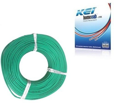 KEI FR PVC, PVC 1 sq/mm Green 180 m Wire