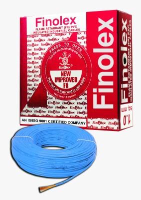 Finolex FR PVC, PVC 1 sq/mm Blue 90 m Wire