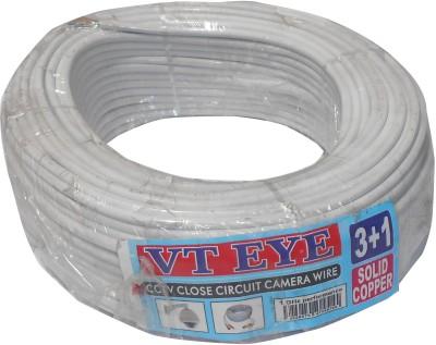 vt eye CCTV WIRE CABLE 3+1 Full Copper pvc White 90 m Wire